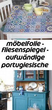 Möbelfolie – fliesenspiegel – aufwändige portugiesische fliesen – möbel klebefolie 4