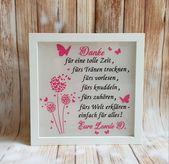 Photo of Handgemachte Bilderrahmen Erzieher Geschenk Abschied Kindergarten personalisiert