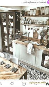 Küche Ideen Einrichtung 2019-Küche Ideen Einrichtung Landhaus mit Holz, weiß, Deko#kitchenideas #kitchen #kitchendesign