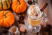 Pumpkin spice latte with whipped cream by nblxer. Pumpkin spice latte with whipp…