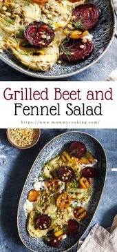 Grilled Beet and Fennel Salad #vegan #recipe