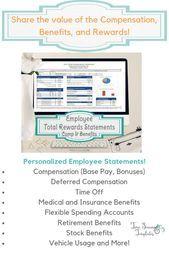 Employee Total Rewards Statement Total Compensation Statement