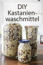 DIY – Waschmittel aus Kastanien – DIY Basteln & Selbermachen | crafting & diy