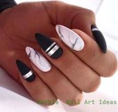 25 Marble Nail Design mit Wasser & Nagellack #naildesigns #nailideas – Marble Nail Arts Ideas