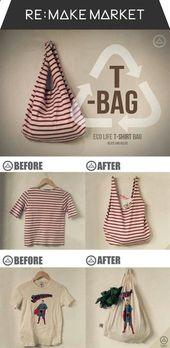 Wie erstelle ich ein No Sew T-Shirt Tote Bag In 10 Minuten   – DIY Projects