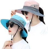 Frauen Sonnenhut Outdoor UV-Schutz Eimer Mesh Boonie Hut einstellbar Angeln Safari Kappe wasserdicht   – Products