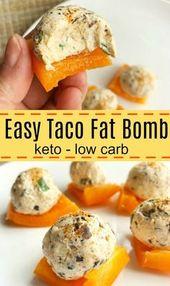 Wenn Sie etwas Pikantes wollen, sind diese Taco-Fatbomben genau das Richtige und helfen …