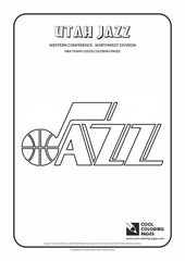 Cool Coloring Pages Nba Basketball Clubs Logos Western Conference Utah Jazz Cool Coloring Pages Flag Coloring Pages
