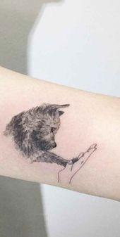30 niedliche kleine & einfache Hund Tattoo-Ideen für Frauen Tierliebhaber