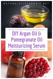 DIY Arganöl und Granatapfelöl feuchtigkeitsspendendes Serum – Pomegranate recipes