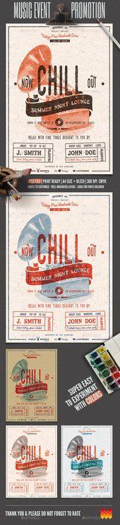 25 Cool Grunge Flyer Templates Flyer template, Grunge and Design - dinner flyer