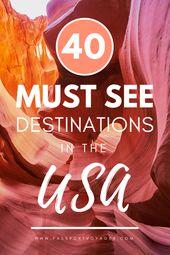 Planen Sie bald eine Reise nach USA? Schauen Sie sich diesen fantastischen Leitfaden zu den besten Orten an, um …