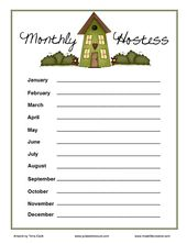 Pinterest  Monthly Sign Up Sheet Template