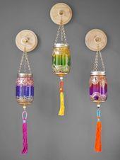 Moroccan Handmade Boho-Dekor Wand hängen Weckglas Wand Dekor Einweihungsparty Geschenk Votiv Kerz...