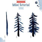 Malen lernen mit Aquarell: Winterwald – Doro Kaiser | Grafik & Illustration