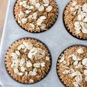 Muffins saludables de avena (sin harina, sin azúcar, sin aceite)   – Healthy Snacks for Weightloss