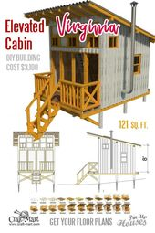 Elevated Cabin Plans Virginia