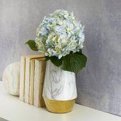 Scott Living Scott Living Luxe Marble Table Vase Size: 7.87″ H x 4.92″ W x 4.92″ D
