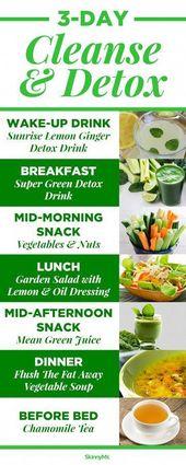 Detox-Diäten 3 Tage #DetoxDiets   – Detox Diets