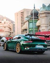 Grün und gold stehen dem Porsche 991.2 GT3 RS richtig gut! [Repost Jo Quinlan: … – Porsche 911