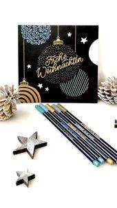 DIY: Weihnachtskarte mit Stabilo Pen 68 metallic-Stiften