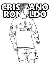 Coloring Pages With Famous People Actors Sportsmen Celebrities Ronaldo Cristiano Ronaldo Sports Coloring Pages