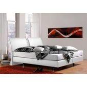 Lonni box spring bed including Led lighting, material imitation leather – 180 x 200 cm Möbel-Eins-Möbel-Ei
