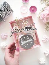 Brunch Einladung im Karton – DIY Blog   – Hochzeit idee