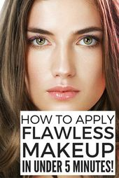 how one can apply flawless make-up in 5 minutes or much less