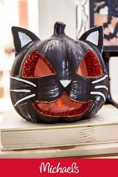 DIY Slime Make this glittered cat project it is a cute and fun Halloween light up decor cr...