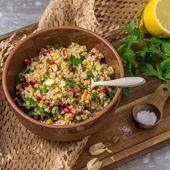 Almuerzo saludable: ensalada de cebada con granada   – Rezepte fürs Büro