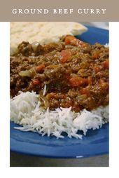 Ground Beef Curry #SundaySupper