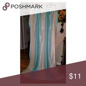 Aqua and White Silk Curtains Aqua and white silk c…