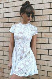 vit kort klänning spetsklänning vit # vit klänning kort vit kort klänning …