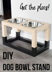 Simple and simple DIY dog bowl floor plans that are so easy to create! …