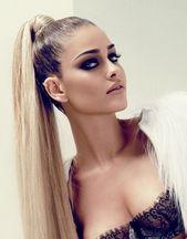 Sleek high ponytail