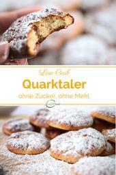 Süßer kohlenhydratarmer Quarkaler aus dem Ofen   – Köstliche Low Carb Süßigkeiten