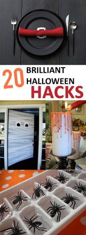 20 trucos brillantes de Halloween