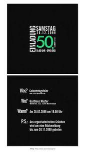 Geburtstags-Einladung (Schwarzes oder kundenspezifische Farben) | Wunschliste   – Basteln