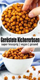 Geröstete Kichererbsen sind solch ein toller und gesunder Snack! Sie sind himml… – Fingerfood und Buffet-Ideen