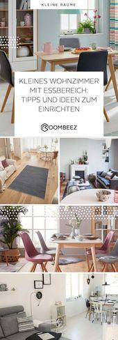 Kleines Wohnzimmer mit Essbereich » Einrichtungstipps