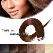 Enjoy exclusive for Benehair Rooted Tape Hair Extensions Human Hair Medium Brown Skin Weft 16 inches Long Straight Remy Hair Double Sided Invisible Tape ins Women 20pcs 50g ?16 #4? online