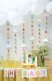 Baby shower ideas for girls themes decoration rain drops 57+ Ideas  – Easter themed baby shower