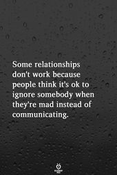 Some Relationships Don't Work Because People Think It's Ok