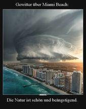 Gewitter über Miami Beach: Die Natur ist schön u…