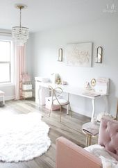 Blush And Gold Glam Office Reveal