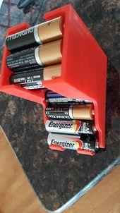AA Battery Organizer Dispenser // Holder Storage of Batteries for Toys // Get Organized