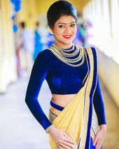 a18fd25511d2d6 Maharana Full Sleeve Royal Blue Velvet Saree Blouse Sari Choli - KP-72 in  2019