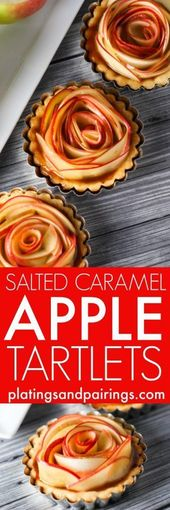 GESALZENE KARAMELL-APFEL-TORTELETTEN – Köstliche Rezepte   – cake