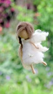 Items similar to fairy Christmas tree decorations, needle felted Christmas angel, Waldorf inspired, home decor on Etsy
